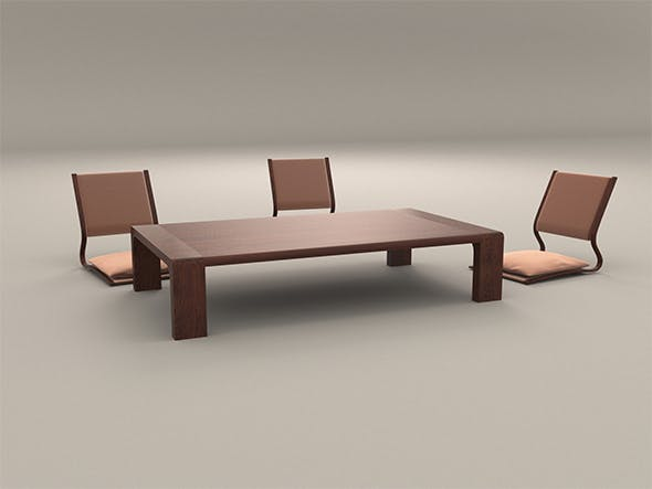 Anese Style Low Dining Table And Chair