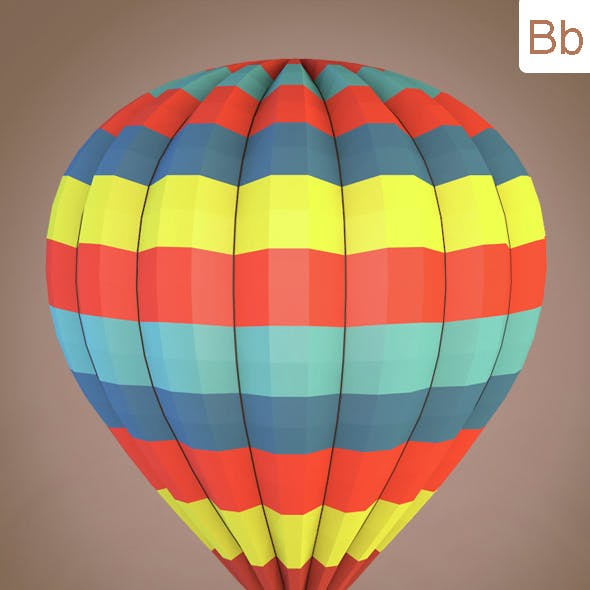 Low poly balloon
