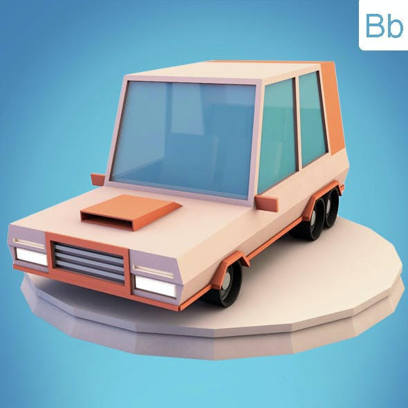 Low poly minivan