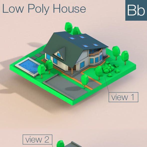 Low Poly House Building