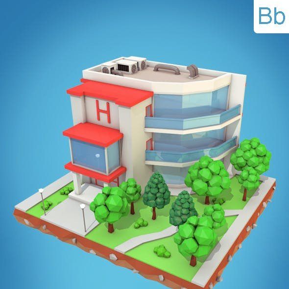 Low Poly Hotel
