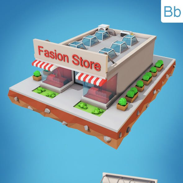 Low Poly Fashion Store