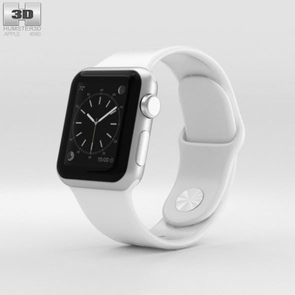 Apple Watch Sport 38mm Silver Aluminum Case White Sport Band