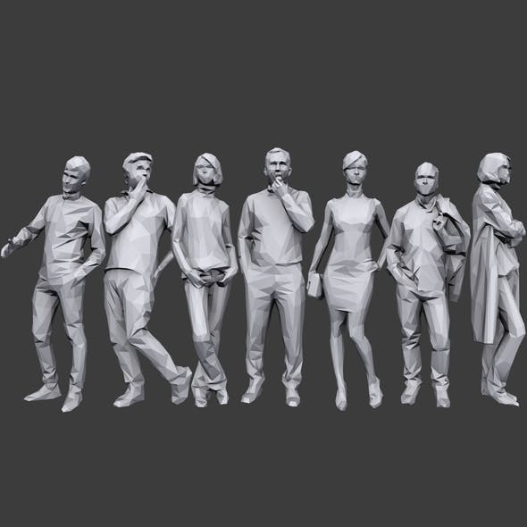 Lowpoly People Casual Pack Vol.5