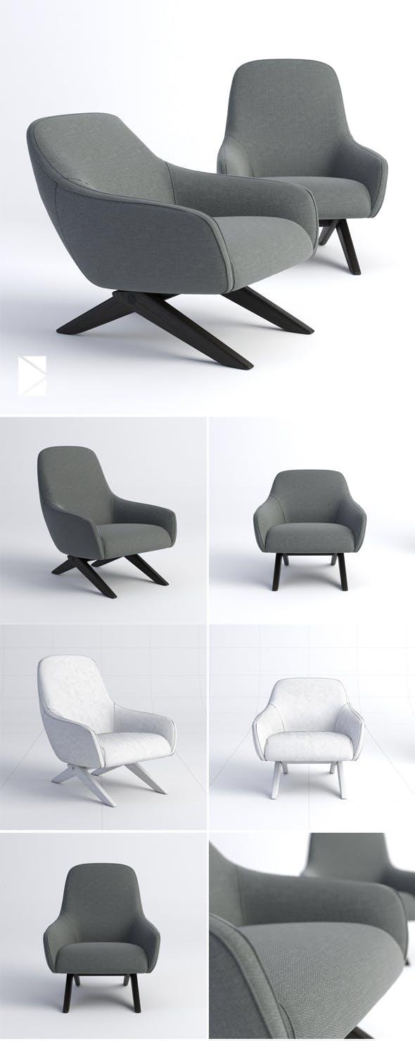 Poliform Marlon poltrona - 3DOcean Item for Sale