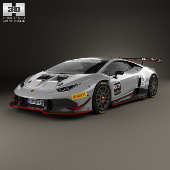 Lamborghini Huracan (LP 620-2) Super Trofeo 2014 - 3DOcean Item for Sale