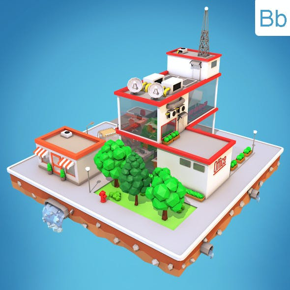 Low Poly City Block5