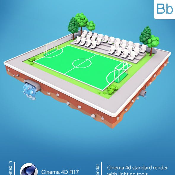 Low Poly Football Field