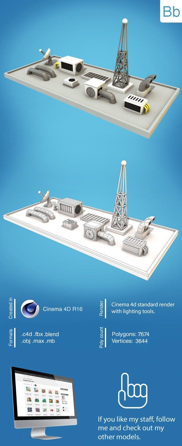 Low Poly Technics - 3DOcean Item for Sale
