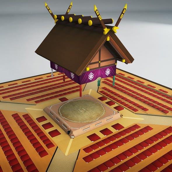 Sumo dojo arena stadium ring - 3DOcean Item for Sale