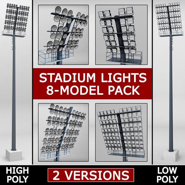 Stadium light lux pack - 3DOcean Item for Sale