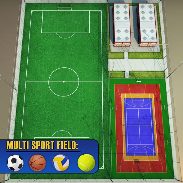 Sport football court arena pack