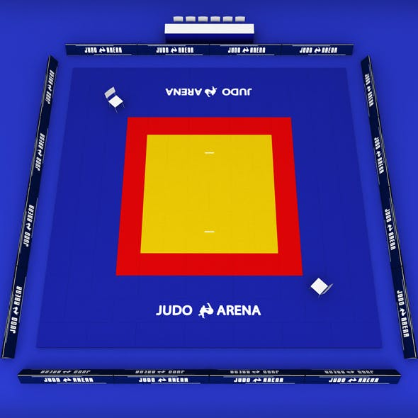 Judo tatami sport arena low poly