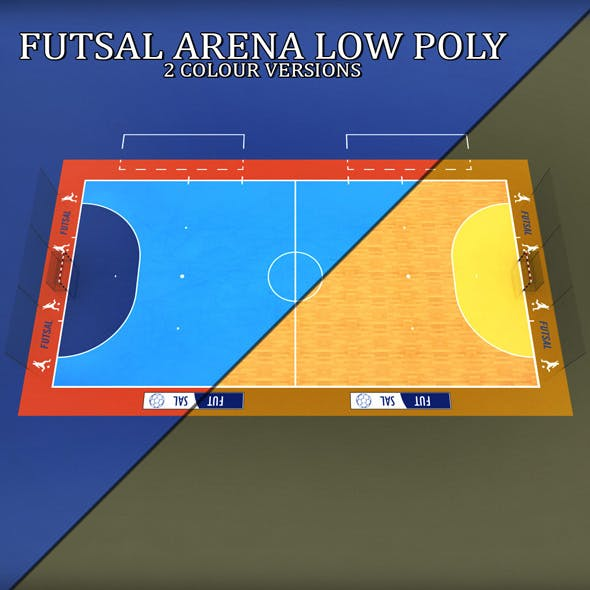 Futsal court arena low poly - 3DOcean Item for Sale