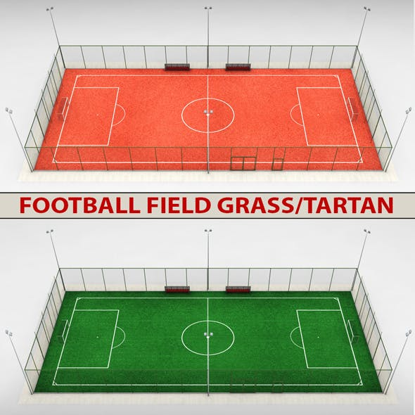 Football soccer stadium field - 3DOcean Item for Sale