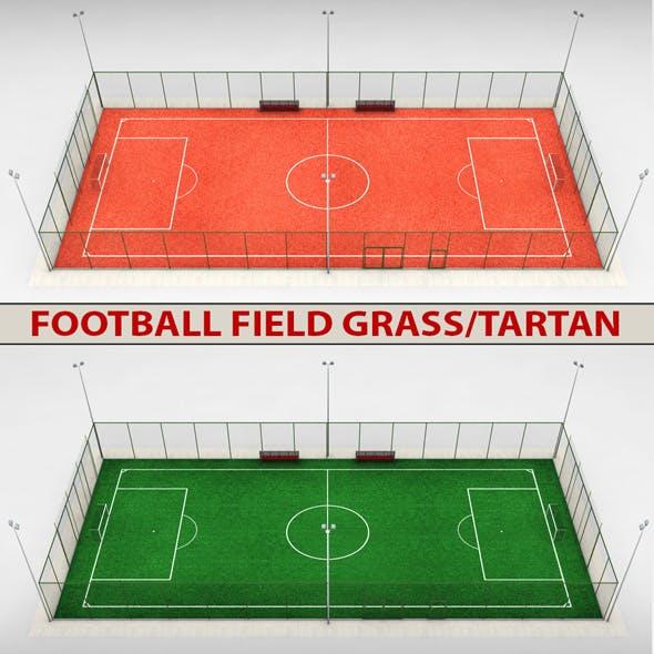 Football soccer stadium field