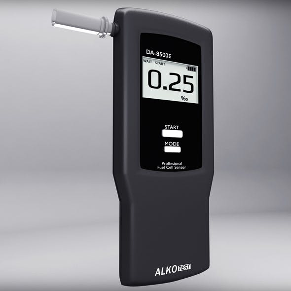 Alcohol Breathalyser - 3DOcean Item for Sale