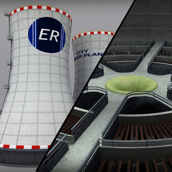 Cooling Tower Power Plant Interior
