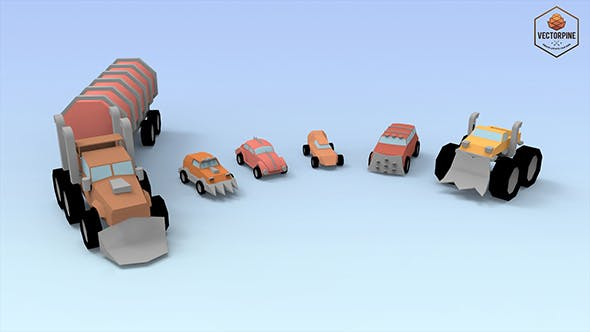 Low Poly Raider Cars - 3DOcean Item for Sale