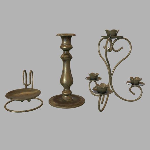 Candle holder set - 3DOcean Item for Sale