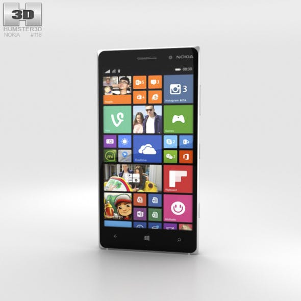 Nokia Lumia 830 White - 3DOcean Item for Sale