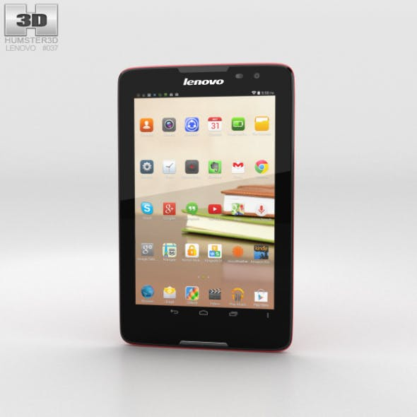 Lenovo Tab A8 Red - 3DOcean Item for Sale