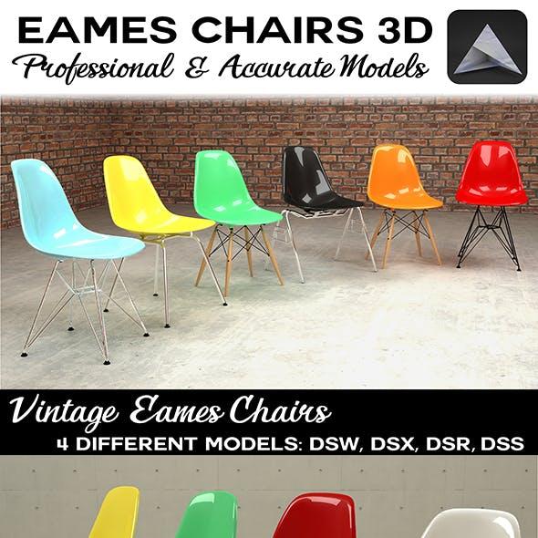 Eames Plastic Chairs DSW DSX DSR DSS