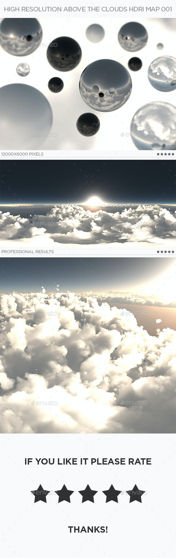 High Resolution Above The Clouds HDRi Map 001 - 3DOcean Item for Sale