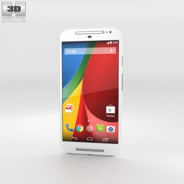 Motorola Moto G (2nd Gen) White - 3DOcean Item for Sale