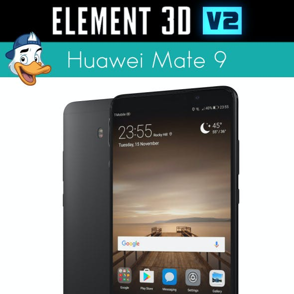 Huawei Mate 9 for Element3D