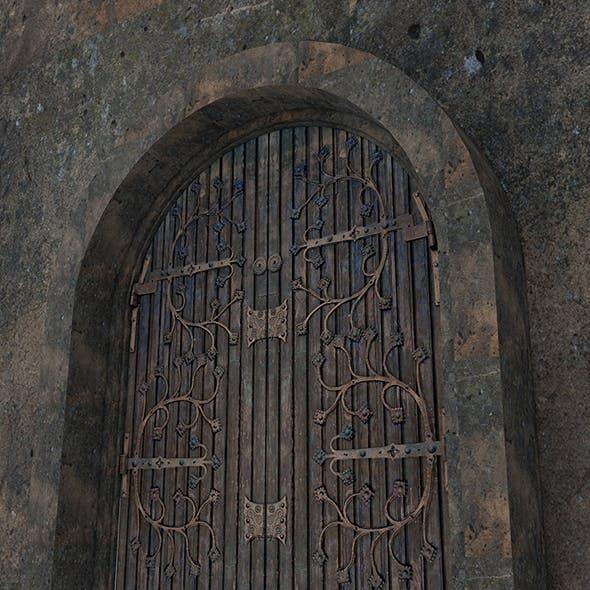 Brown_Vintage_Wooden_Rot_Iron_Door - 3DOcean Item for Sale