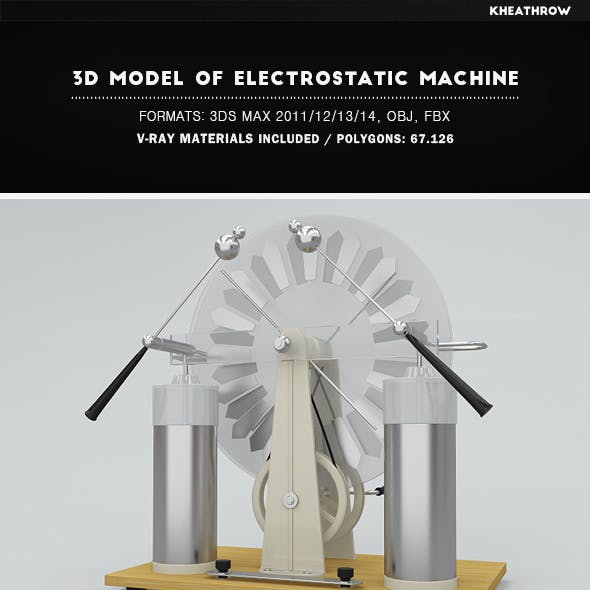 3d Model of Electrostatic Machine