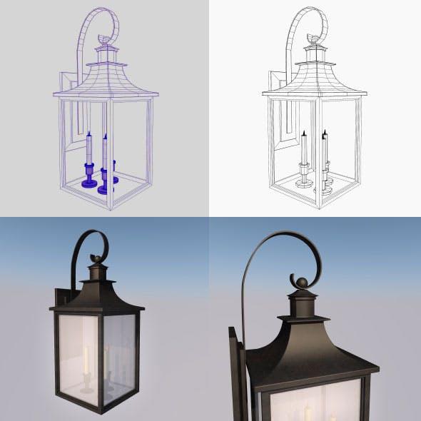Antique Lantern Wall Light - 3DOcean Item for Sale