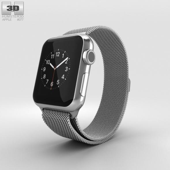 Apple Watch 38mm Stainless Steel Case Milanese Loop - 3DOcean Item for Sale