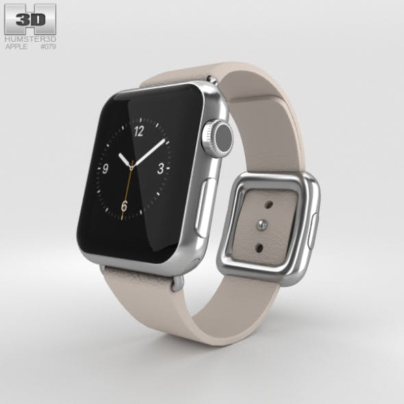 Apple Watch 38mm Stainless Steel Case Pink Modern Buckle