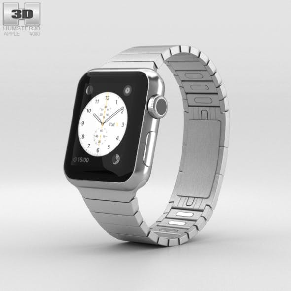 Apple Watch 38mm Stainless Steel Case Link Bracelet - 3DOcean Item for Sale