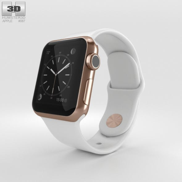 Apple Watch Edition 38mm Rose Gold Case White Sport Band