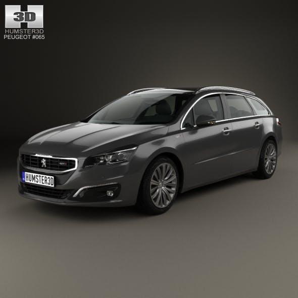 Peugeot 508 SW 2014 - 3DOcean Item for Sale