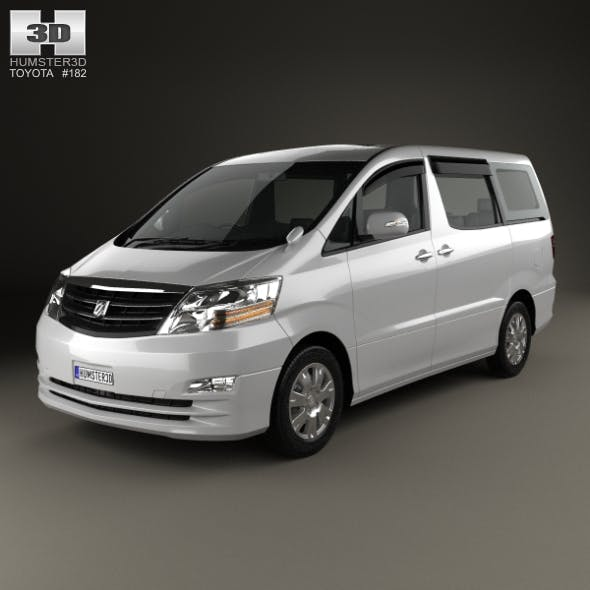 Toyota Alphard 2002 - 3DOcean Item for Sale