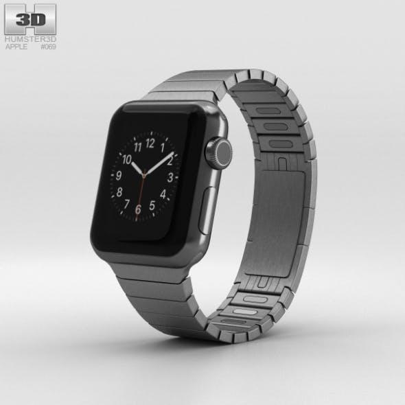 Apple Watch 38mm Black Stainless Steel Case Link Bracelet