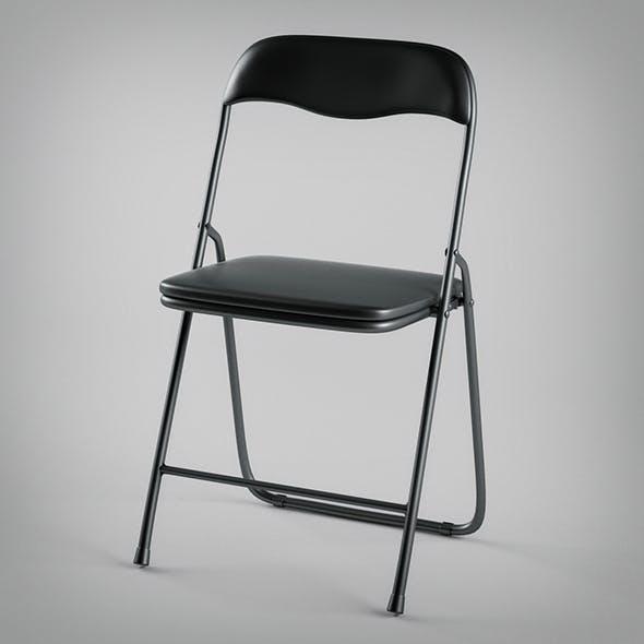 Metallic Folding Chair - 3DOcean Item for Sale