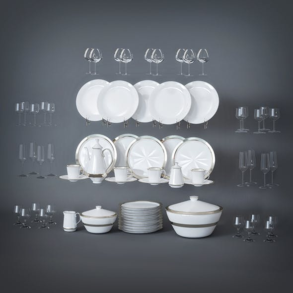Dinner Set - 3DOcean Item for Sale