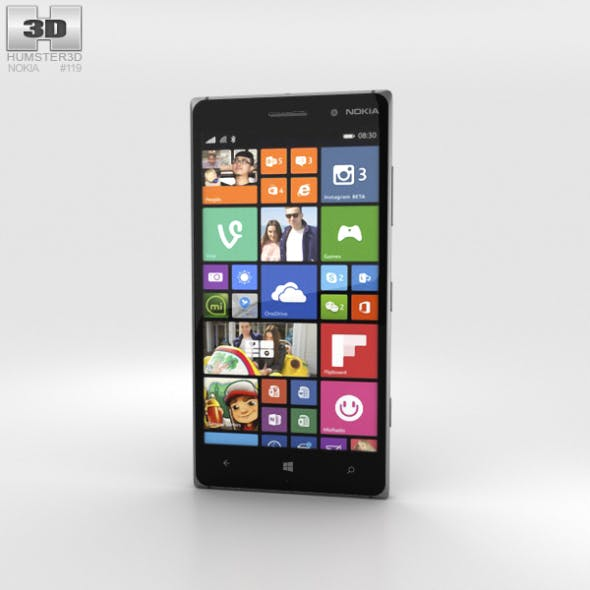 Nokia Lumia 830 Black - 3DOcean Item for Sale