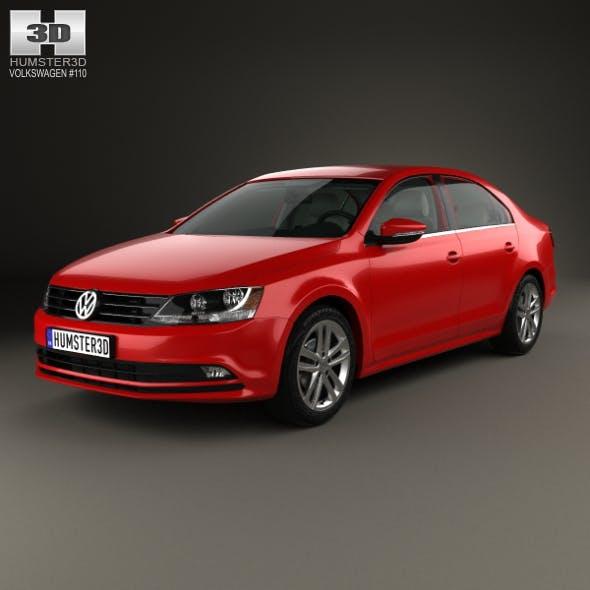 Volkswagen Jetta with HQ interior 2015 - 3DOcean Item for Sale
