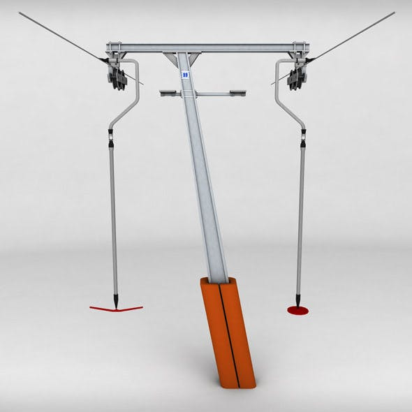 Ski lift pole rod 2