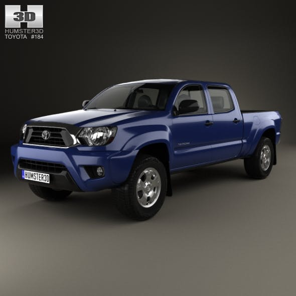 Toyota Tacoma Double Cab Long Bed 2012 - 3DOcean Item for Sale