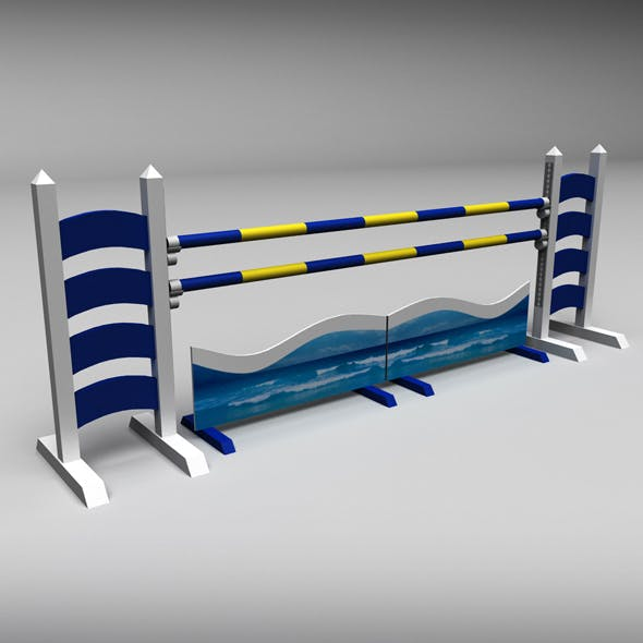Horse jump obstacle 06