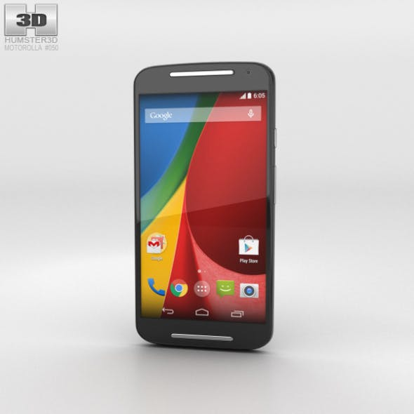 Motorola Moto G (2nd Gen) Black - 3DOcean Item for Sale