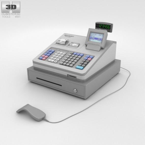 Cash Register Gray - 3DOcean Item for Sale