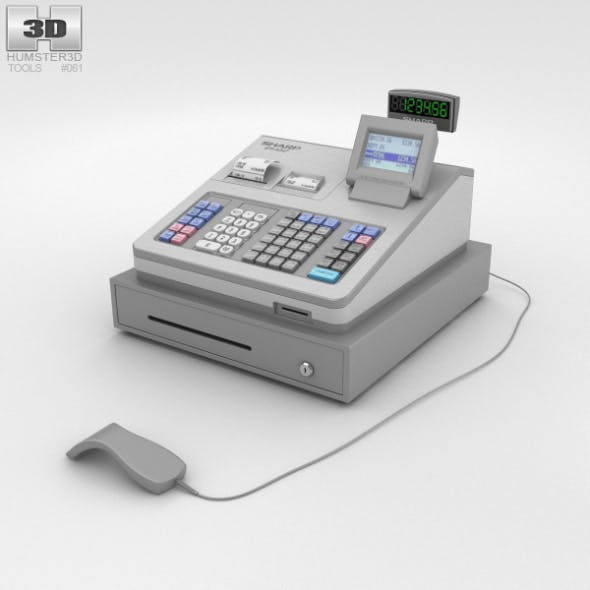 Cash Register Gray